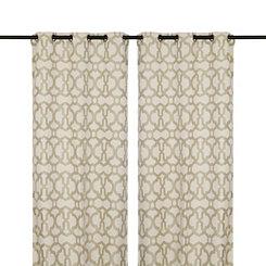 Taupe Teemu Curtain Panel Set, 108 in.