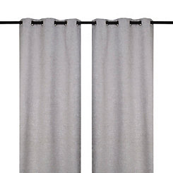 Gray Criss Cross Curtain Panel Set, 96 in.