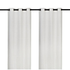 Ivory Sequin Curtain Panel Set, 96 in.
