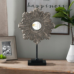 Distressed Starburst Mirror Finial