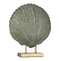 Distressed Blue Seashell Finial