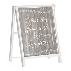 Bless this Home Chalk Art Easel
