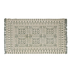 Nina Gray Floral Medallion Area Rug, 5x7