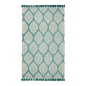 Nina Blue Floral Medallion Area Rug, 5x7
