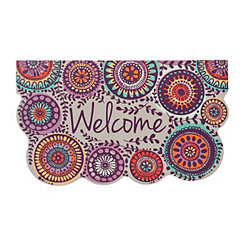 Purple Medallions Welcome Mat