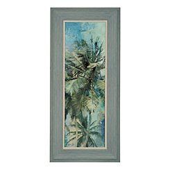 Teal Palm Breeze I Framed Art Print