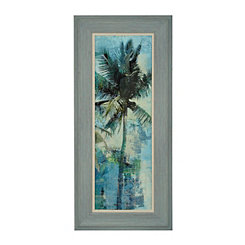Teal Palm Breeze II Framed Art Print