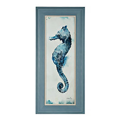 Blue Watercolor Seahorse I Framed Art Print
