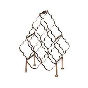 Bronze Quatrefoil Wine Rack
