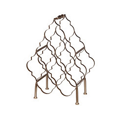 Bronze Quatrefoil Wine Rack