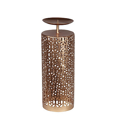 Bronze Oval Cutout Candle Holder, 14.5 in.