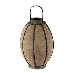 Brown Rustic Oval Candle Lantern