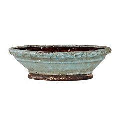 Blue Antiqued Decorative Bowl