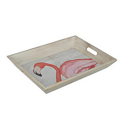 Pink Flamingo Decorative Tray
