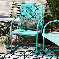 Retro Turquoise Metal Chair