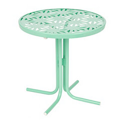 Retro Turquoise Metal Side Table