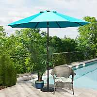 Turquoise and Bronze Patio Umbrella