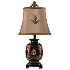 Fleur-de-Lis Bronze Mini Table Lamp