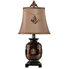 Fleur-de-Lis Bronze Mini Table Lamp