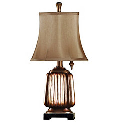 Antique Ridged Copper Table Lamp