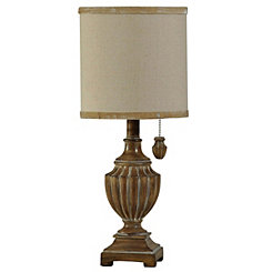 Traditional Natural Urn Mini Table Lamp