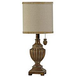 Traditional Natural Urn Mini Table Lamp