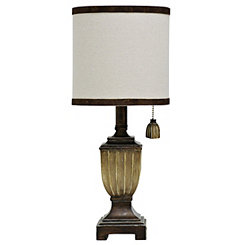 Traditional Espresso Urn Mini Table Lamp