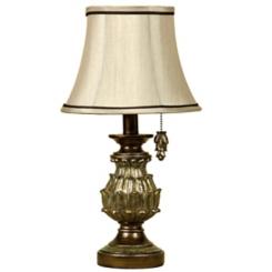 Traditional Gold Petal Mini Table Lamp