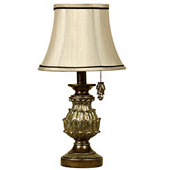Traditional Gold Petal Mini Table Lamp