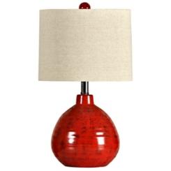 Red Ceramic Jug Table Lamp