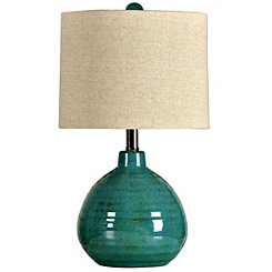 Glossy Turquoise Table Lamp
