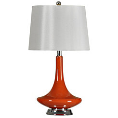Orange Retro Glass Table Lamp