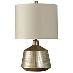 Silver Tiled Table Lamp