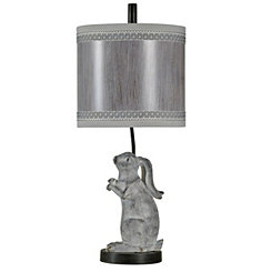 Silver Rascal Rabbit Table Lamp