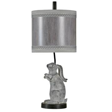 Silver rascal rabbit table lamp kirklands aloadofball Choice Image