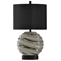 Silver Swirling Brushed Table Lamp