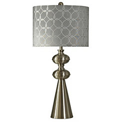 Silver Transitional Brushed Table Lamp