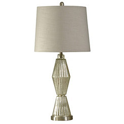 Champagne Fluted Glass Table Lamp
