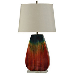 Ceramic Fading Red Table Lamp