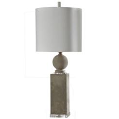 Geometric Cast Concrete Table Lamp