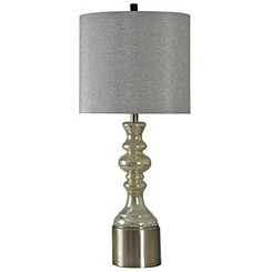Champagne Spindle Mercury Glass Table Lamp