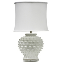 Glossy White Pedal Table Lamp