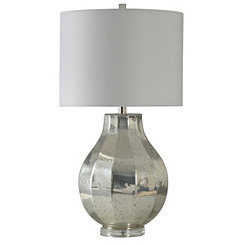 Speckled Silver Mercury Glass Table Lamp