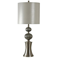 Silver Mercury Glass Orbs Table Lamp