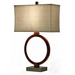 Brown LED Ring Table Lamp