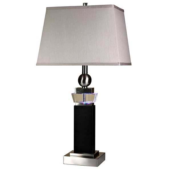 ... Crystal And Leather Table Lamp · Gold Cut Glass ...