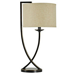 Bronze Crossed Arm Table Lamp