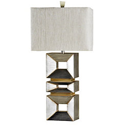 Palladium Silver Contemporary Table Lamp