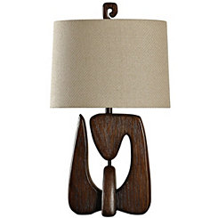 Chestnut Faux Wood Table Lamp