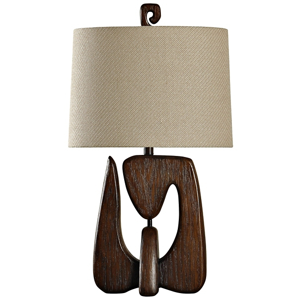 ... Chestnut Faux Wood Table Lamp ...